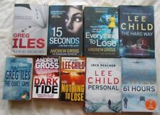 Lee Child Thrillers Books with Dust Jacket