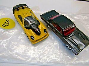 Hotwheels Pair of '67 Plymouth GTX Black C35 & Callaway C7 Yellow D02