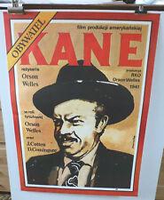 CITIZEN KANE 1941 Original Vintage Polish Cinema Film Movie Poster Orson Welles