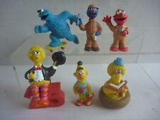 #6 SESAME STREET pvc toy figure lot COOKIE MONSTER+ERNIE+ELMO+BIG BIRD Applause