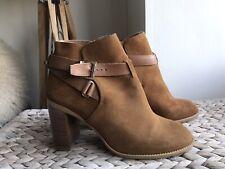Kurt Geiger camel genuine suede ankle boots eur 41 uk 8