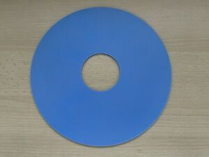 3mm Thick Blue Silicone Rubber Turntable Mat suitable for BSR Monarch Decks