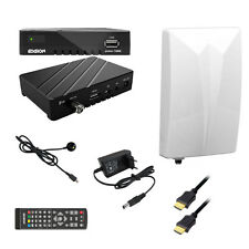 FullHD dvb-t2 DVB-T Receiver HEVC h.265 Digital + antenna attiva + 1m HDMI Cavo