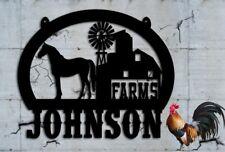 Horse Barn Farm  Ranch Scene Custom Metal Sign Family Farm Personalized 28x23