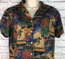 Nani Tori Richard Hawaiian Shirt Xl Sea Turtles Fish Tropical Floral