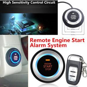 Auto Car Alarm System Security Push Button Remote Engine Start Kit Anti-theft