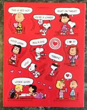 VTG Hallmark PEANUTS sticker Sheet~SNOOPY~Valentines Day~Lucy~Charlie Brown~LOVE