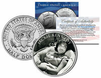 Jacqueline Kennedy Onassis JFK Kennedy Half Dollar Coin - BW Signature
