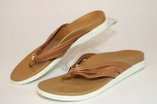 Vionic Catalina Womens 6 M 37 Leather Strappy Flip Flop Comfort Shoes VS241-1