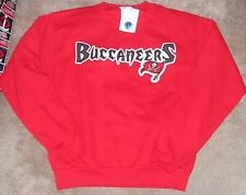 NEW NFL Tampa Bay Buccaneers Crew Sweatshirt L Large 14 16 Youth Boys NWT