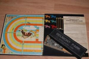 Marks Bros Vintage Horse Racing Game Belmont Park / 1930s / Table Top Party Game
