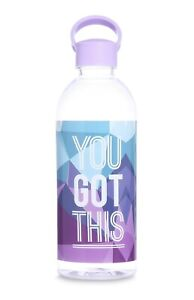 Primark Womens Girls Transparent Training Workout Running Water Bottle Gym New