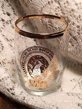 Barware 5 Coors Sample Size Glass Golden Co Logo Gold Gilt Vintage