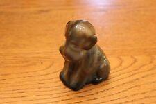 Degenhart Art Glass Pooch Dog Light Brown Slag