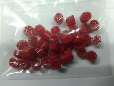 10 grammi murrine in foto di murano glass millefiori  rosso rosse misura 6-7 mm
