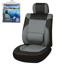 Cars Trucks Vans SUV Front Single Seat Cover Black Gray PU Leather 114*54cm New