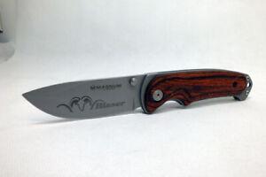 Magnum Boker Blaser Wood Handle Folding Pocket Knife Single Locking Blade