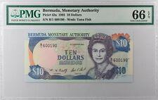 Bermuda $10 1993... P-42a... PMG Gem UNC 66 EPQ