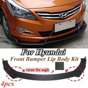 For Hyundai Veloster Elantra Carbon Fiber Front Bumper Lip Splitter Body Kit
