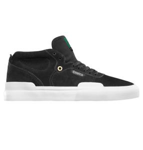 Emerica Pillar Black White Gold Mens Suede Skateboard Shoes