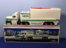 1995 Hess Gas Toy Flatbed Truck & Cab with Operating Helicopter & Lights NIB