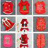 Winter Autumn Puppy Small Dog Cat Pet Clothes Christmas Pattern Coat T Shirt New