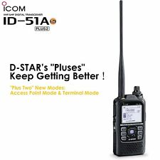 Icom ID-51A Plus2 VHF/UHF Digital D-STAR Transceiver 5.5W Max Black