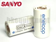 Sanyo Eneloop Battery Adaptor Converter AA to C x2+D x2