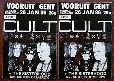 Carte postale Vooruit Gent,The Cult,The Sisterhood,concert 1986, postcard