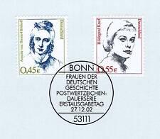 BRD 2002: Hildegard Knef y Annette von Droste-pizarro nº 2295 + 2296! 1a