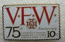Pin's forme de Timbre VFW 75th Anniversary veterans of spanish American  #902