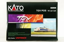 N-Scale KATO K10914-1 TGV POS 10 Car Set with Display UNITRACK VERY RARE!!