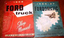 1956 Ford Truck Service Shop Repair Workshop Manual Factory F100 - F600 Tranny!