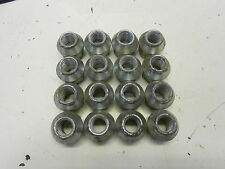 Set Of 4 Evo MK5 M12x1.50 Silver Locking Nuts For Alloy and Steel Wheels 070//5
