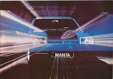 OPEL MANTA B Deluxe SR BERLINETTA 1975-1976 ORIGINALE UK SALES BROCHURE