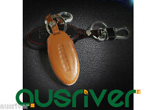 2 Colours Brand New Leather Car Key Cover Bag Case+Holder For Nissan X-Trail