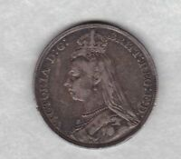 1889 VICTORIAN JUBILEE HEAD SILVER CROWN IN GOOD FINE CONDITION