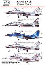 Hungarian Aero Decals 1/48 MIKOYAN MiG-29B & MiG-29UB Fighter
