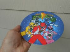 MIGHTY MORPHIN POWER RANGERS 1994 PLASTIC PLATE, MADE IN THE U.S.A.