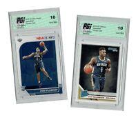 Zion Williamson 2019 NBA Hoops #258 & Donruss #201, TWO Rookie Card Lot PGI 10