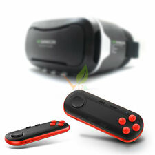 Red -LiCE VR BOX Virtual 3D Glasses Bluetooth Remote Control For Smart Phone