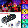 5M 300 Led Strip Light 3528 5050 5630 RGB Warm White tape lamp Key Remote Power