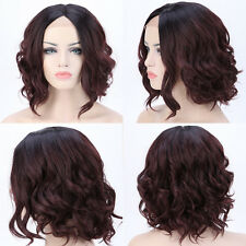 Lace Front Wigs Curly Synthetic Hair Full Head Wigs Best For Afro Black Women US