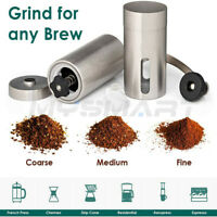Portable Ceramic Burr Manual Coffee Grinder Hand Crank Stainless Coffee Mill
