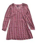 Ladies Boden Dress Purple And Pink Print. Size 8. Short Shift Dress Tunic Dress.