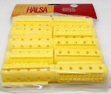 "HALSA Professional Snap On Magnetic Rollers 10 ct 5/8"" diameter YELLOW NIP"