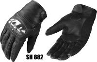 Men's Short racing leather Motorbike motorcycle Gloves Hard Knuckle Protection
