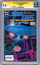 STAR TREK THE NEXT GENERATION #1 CGC-SS 9.8 SIGNED BY ACTRESS MARINA SIRTIS 1988