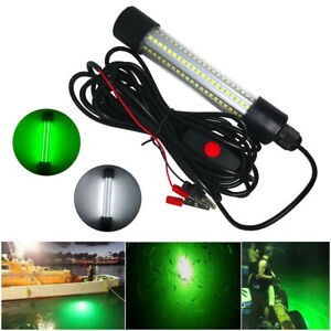 13W 126LED Submersible Fishing Night Light Underwater Fish Lure Bait Finder Lamp