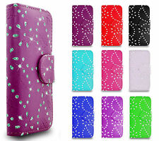 Bling Crystal Diamond Wallet Flip Stand Cover Case for Various Mobile Handsets